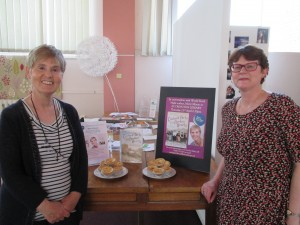 Mary Gibson and Accrington Librarian Heather Pittman. World Book Night 2015
